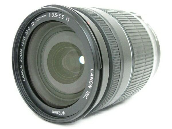 【中古】 Canon EF-S 18-200mm F3.5-5.6 IS 高倍率 ズームレンズ キャノン N3172365
