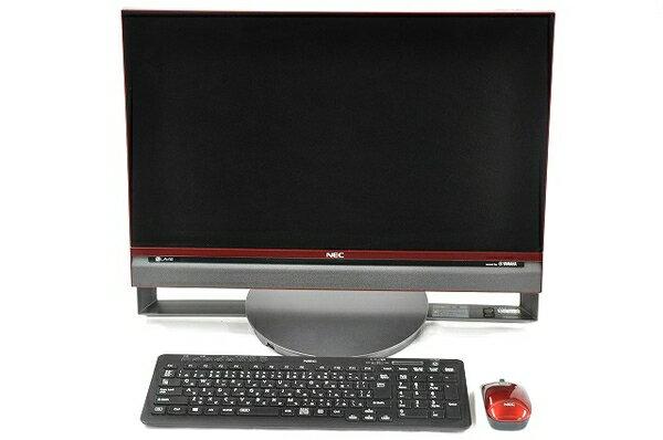 【中古】 NEC LAVIE DA770/BAR PC-DA770BAR 液晶一体型 デスクトップ パソコン PC 23.8型 i7 5500U 2.4GHz 8GB HDD3TB Win8.1 64bit クランベリーレッド T2978248
