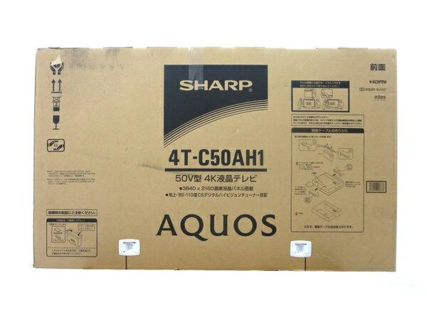 未使用 【中古】 未使用 SHARP シャープ 4T-C50AH1 液晶テレビ 50インチ M3209456