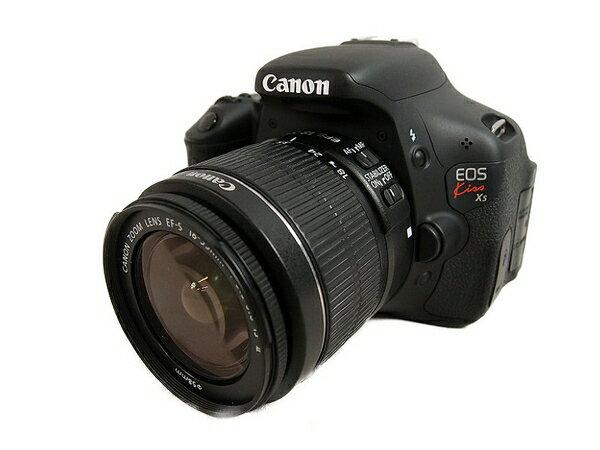 【中古】 Canon キヤノン EOS Kiss X5 EF-S18-55 IS II レンズキット KISSX5-1855IS2LK カメラ デジタル一眼レフ ブラック S3173632