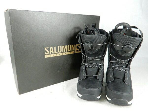 【中古】SALOMON サロモン DIALOGUE FOCUS ボア ブーツ ブラック 26.5cm スノーボード ウィンタースポーツ K3483945