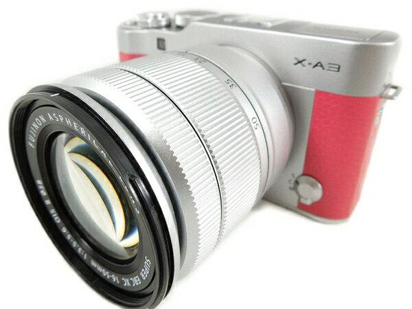 【中古】富士フィルム X-A3 ピンク ミラーレス一眼 カメラ レンズキット S2884239