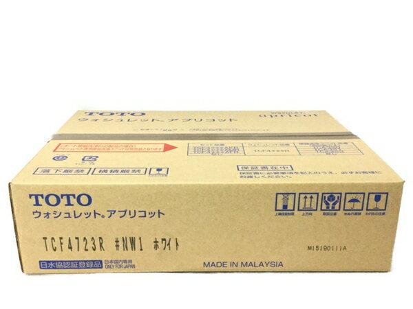 未使用 【中古】 TOTO TCF4723R NW1 ホワイト ウォシュレット アプリコット 家電 S3848617