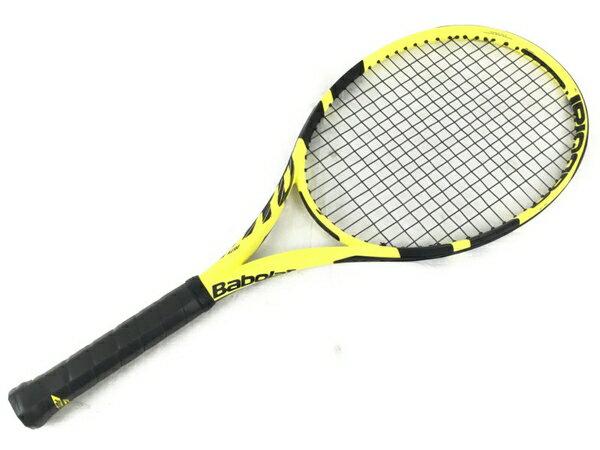 【中古】 良好 Babolat バボラ PURE AERO ピュアアエロ 硬式テニスラケット G2 ソフトケース付き N3924130