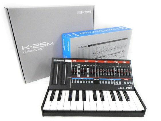 【中古】 ローランド JU-06 K-25M キーボードセット 音響 オーディオ 音楽 機器 機材 コンパクト W2868497