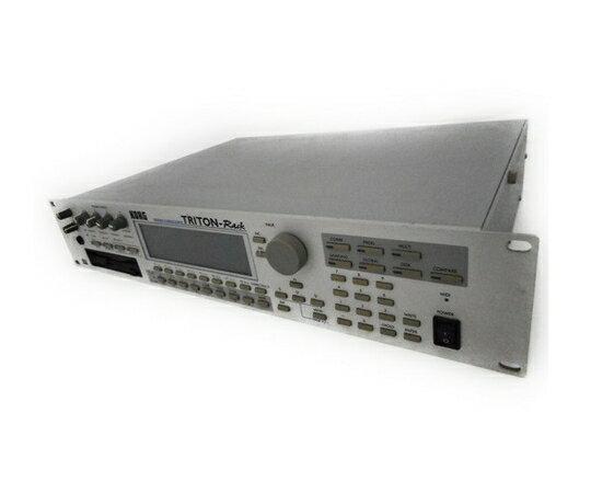 【中古】 KORG コルグ TRITON-Rack モジュール サンプラー 音源 モジュール 器材 ケース 付属 音響 機器 W2716892