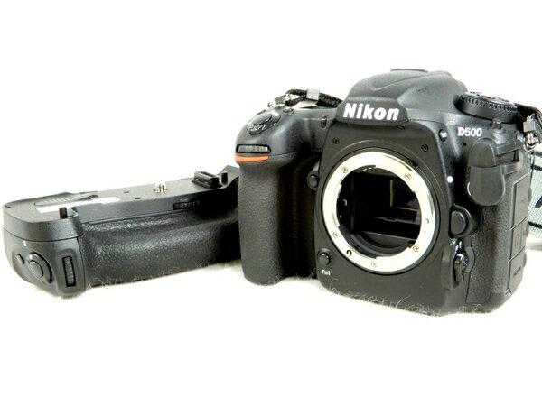 美品 【中古】 Nikon ニコン D500 カメラ デジタル一眼レフ ボディ MB-D17 マルチパワー バッテリーパック 付 K2883641