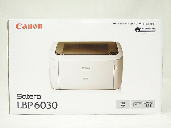 未使用 【中古】 未使用 未開封 Canon キヤノン レーザープリンタ Satera LBP6030 モノクロ プリンター A4 機器 O2761345