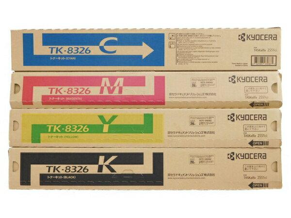 未使用 【中古】 京セラ TK-8326 トナー カートリッジ 4色 セット プリンタ インク N3560364