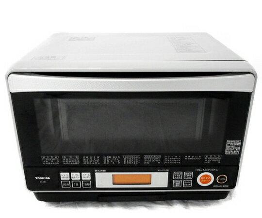 【中古】 TOSHIBA ER-KD8(H) 石窯ドーム 電子 オーブンレンジ 26L ライトグレー 東芝 家電 W3403952