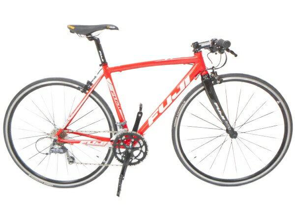 【中古】Fuji フジ ROUBAIX AURA フラットバーロードバイク 49cm 2×8 RED レッド H3667743