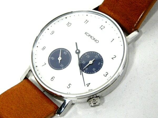 【中古】 コモノ KOMONO KOM-W4000 ワルサー キャメル 時計 メンズ 腕時計 F3860366