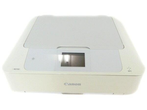 【中古】 Canon キヤノン PIXUS MG7530WH インクジェットプリンター 複合機 ホワイト Y2747905