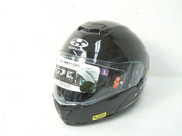 【中古】 OGK カブト IBUKI ブラック メタリック バイク フルフェイス ヘルメット サイズL M2878903