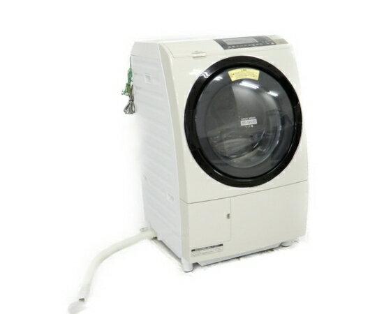 【中古】HITACHI 日立 ヒートリサイクル 風アイロン ビッグドラム スリム BD-S8700L(W) 洗濯機 ドラム式 10.0kg 左開き ピュアホワイト【大型】 K3663728