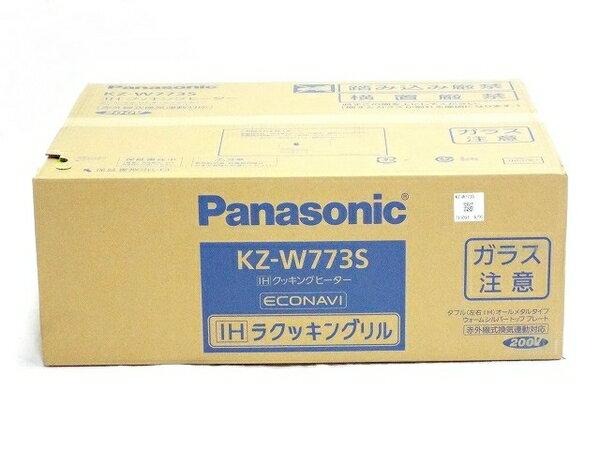 未使用 【中古】 Panasonic KZ-W773S IH クッキングヒーター ビルトインタイプ コンロ T2766303