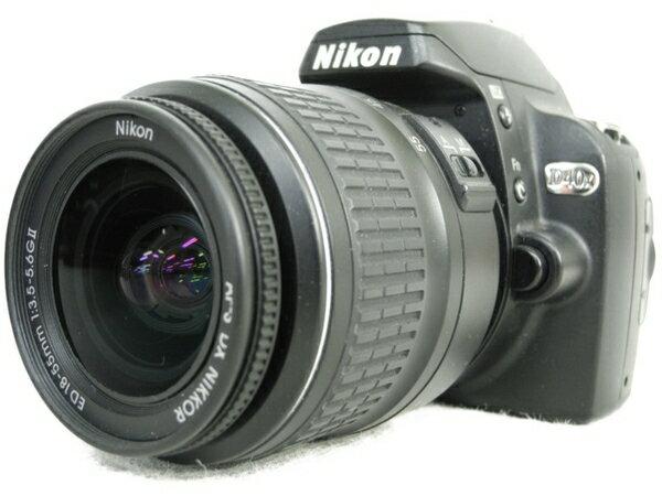【中古】 Nikon ニコン D40 D40xLK レンズキット カメラ デジタル一眼レフ ブラック N3406101
