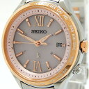 【中古】 SEIKO セイコー LUKIA ルキア 1B25-0AH0 腕時計 ピング文字盤 レディース ソーラー Y4596326