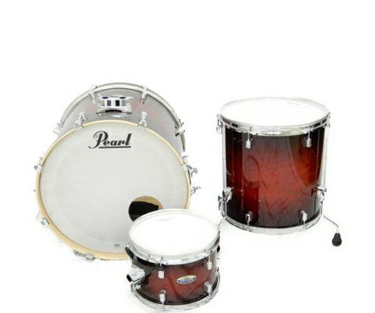 【中古】 Pearl パール DECADE Maple STANDARD バスドラム フロアタム タム 3点 セット ドラム 打楽器 K3631177