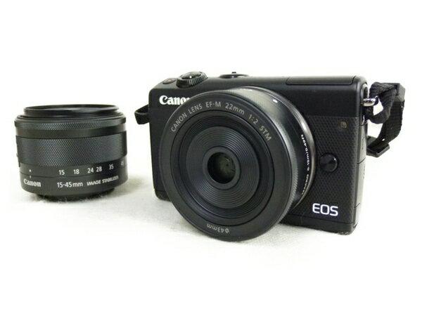 【中古】 Canon キャノン ミラーレス 一眼 EOS M100 ダブルレンズキット デジタル カメラ 機器 N3423513