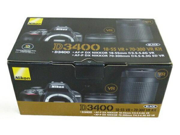 未使用 【中古】 Nikon ニコン 一眼レフ D3400 ダブルズームキット デジタル カメラ N3427130