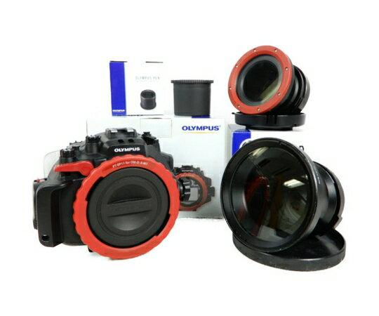 【中古】 OLYMPUS オリンパス PT-EP11 PRO-E02 OM-D E-M1用 水中ハウジング カメラ周辺機器 K3328657