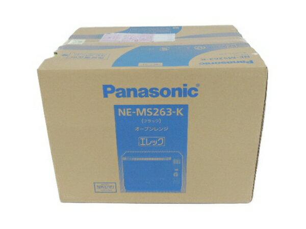 未使用 【中古】 未使用 Panasonic パナソニック エレック NE-MS263-K オーブンレンジ ブラック F3391661