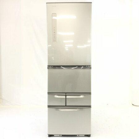 【中古】 TOSHIBA 東芝 VEGETA GR-F43G(NU) 冷蔵庫 426L 5ドア 右開き ブライトシャンパン F3235570
