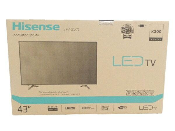 未使用 【中古】 ハイセンス HJ43K300U 4K対応 液晶 テレビ 16年製 映像 機器 Y2868219