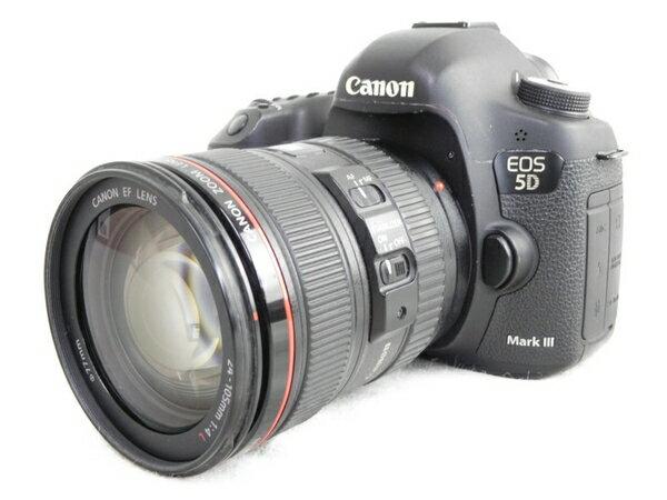 【中古】 Canon キヤノン EOS 5D Mark III EF 24-105 L IS U レンズキット デジタル 一眼 レフカメラ N3559369