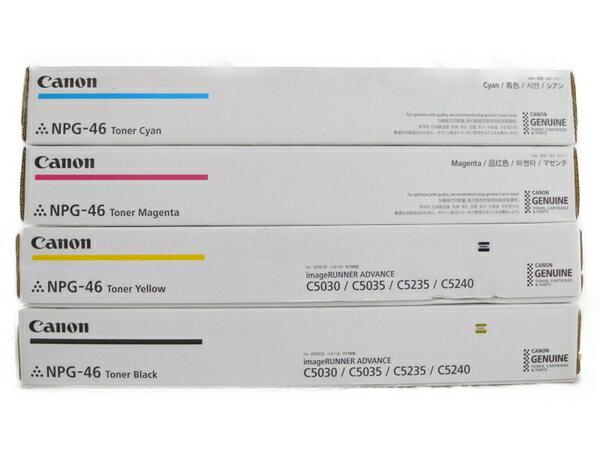 未使用 【中古】 Canon NPG-46 トナー カートリッジ 4色 セット シアン イエロー マゼンタ ブラック N3561601