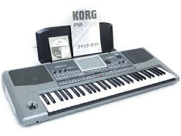 【中古】 KORG シンセサイザー Pa900 61鍵 キーボード 説明書・譜面台 付き N2871018