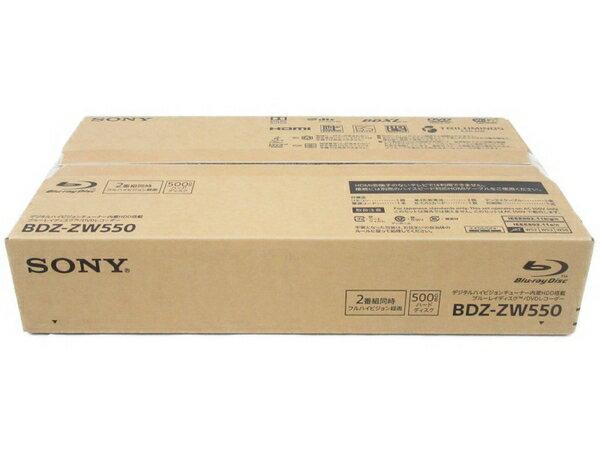 未使用 【中古】 SONY BDZ-ZW550 ブルーレイ ディスク BD DVD レコーダー 2番組 同時録画 500GB N3613414