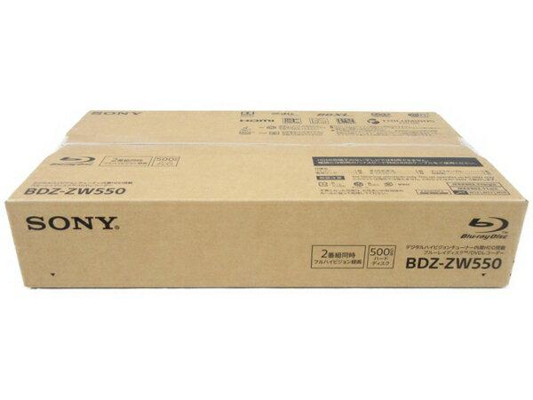 未使用 【中古】 SONY BDZ-ZW550 ブルーレイ ディスク BD DVD レコーダー 2番組 同時録画 500GB N3614687