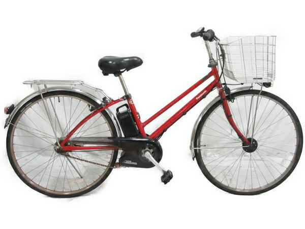 【中古】 Panasonic ViVi DX CITY BE-ELDT752R 電動アシスト自転車 【大型】 N3626518