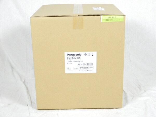未使用 【中古】 Panasonic SC832WK 卓上型 LED 電球色 スタンド 中間スイッチ付 MODIFY モディファイ パネル付型 白熱電球60形1灯器具相当 K3092819
