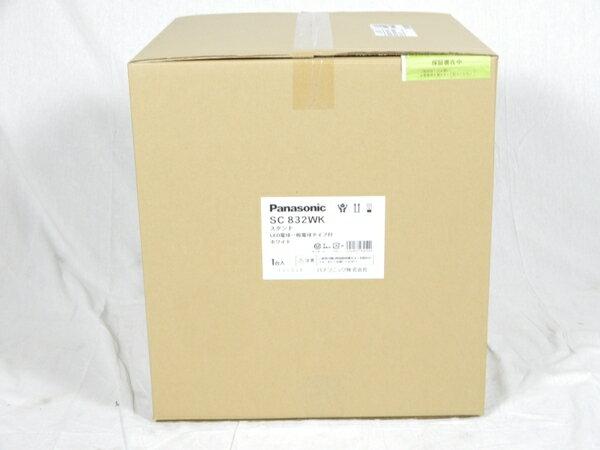未使用 【中古】 Panasonic SC832WK 卓上型 LED 電球色 スタンド 中間スイッチ付 MODIFY モディファイ パネル付型 白熱電球60形1灯器具相当 K3092820