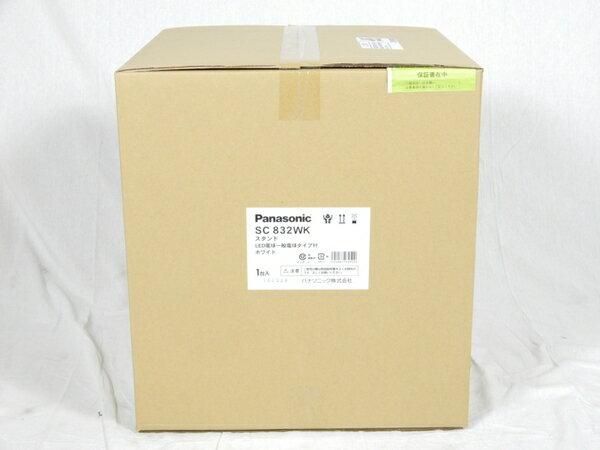 未使用 【中古】 Panasonic SC832WK 卓上型 LED 電球色 スタンド 中間スイッチ付 MODIFY モディファイ パネル付型 白熱電球60形1灯器具相当 K3092822