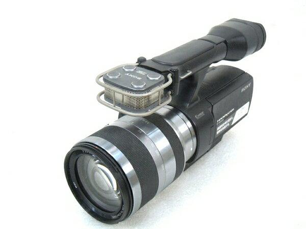 【中古】SONY ソニー ビデオ カメラ Handycam NEX-VG10 SEL18200 付 M2880065