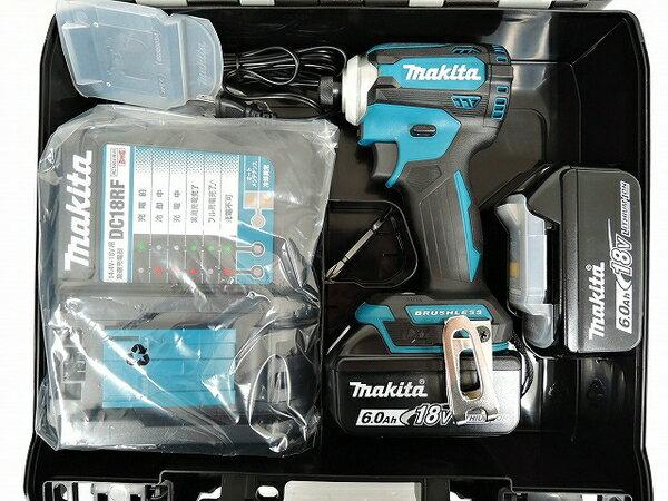 未使用 【中古】 未使用 マキタ TD171DRGX インパクトドライバー バッテリー2個 電動工具 makita O3571879