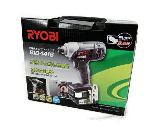 未使用 【中古】RYOBI リョービ BID-1416 インパクトドライバー 14.4V 3.0Ah バッテリー付 電動工具 K3686543