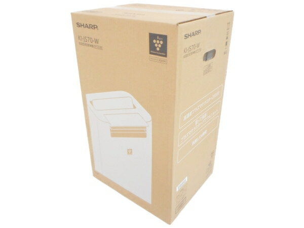 未使用 【中古】 SHARP シャープ KI-JS70-W 加湿空気清浄機 ホワイト系 プラズマクラスター25000 31畳 空気清浄 加湿 H3616082