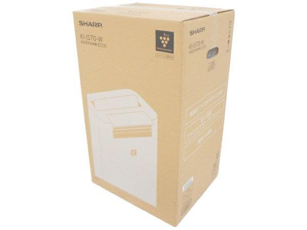 未使用 【中古】 SHARP シャープ KI-JS70-W 加湿空気清浄機 ホワイト系 プラズマクラスター25000 31畳 空気清浄 加湿 H3616083