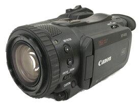 【中古】 Canon XF405 業務用 4K ビデオカメラ 2018年製 キヤノン WA-U58 ワイドアタッチメントレンズ バッテリー付き W5584237
