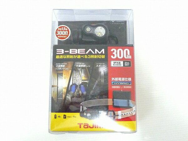未使用 【中古】 未使用 TAJIMA LE-E301-BK 300ルーメン タジマ ペタ LED ヘッドライト ブラック O3572153