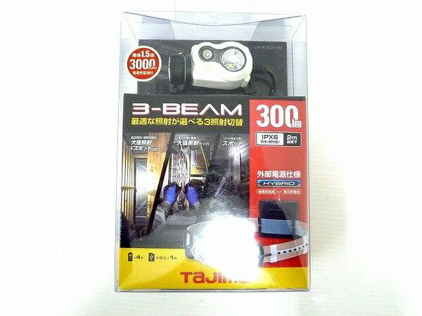 未使用 【中古】 未使用 TAJIMA LE-E301-BK 300ルーメン タジマ ペタ LED ヘッドライト ホワイト O3571039