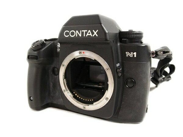 【中古】CONTAX コンタックス N1 フィルム カメラ 一眼レフ ボディ ストロボ 90° 接眼 レンズ 付き S2878200