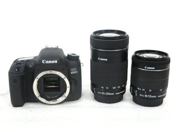 【中古】 中古 Canon キャノン EOS 8000D 一眼レフカメラ ダブルレンズキット M3408266