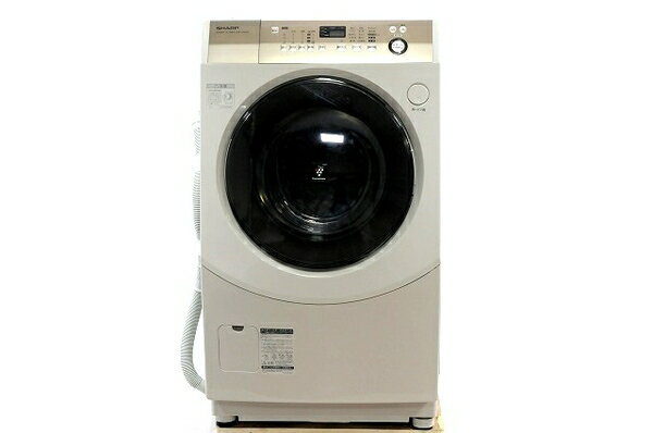 【中古】 SHARP シャープ ES-V600-NL プラズマクラスター 洗濯機 ドラム式 9kg 左開き 2014年製 楽 【大型】 T3542950