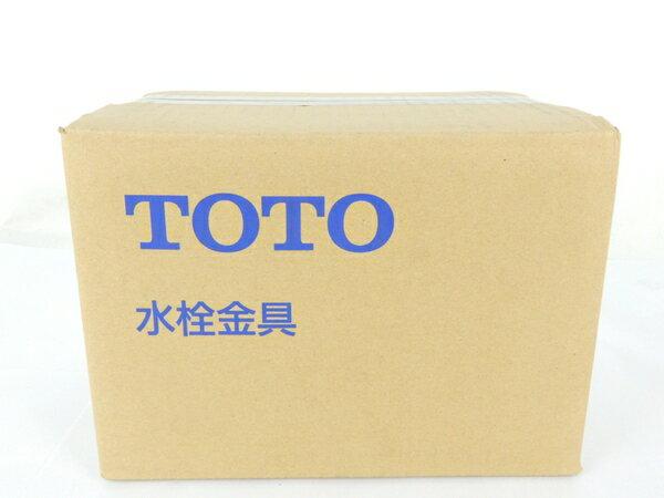 未使用 【中古】 TOTO 台付シングル13 TLHG30EG ツーホール混合栓 洗面台用 Y3542868